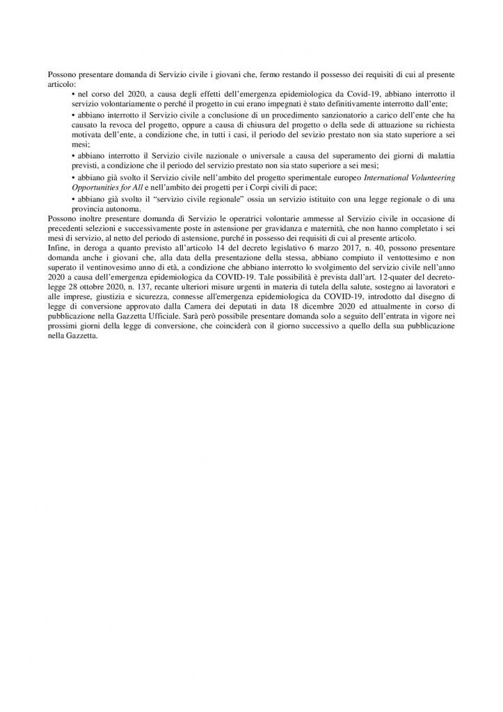 AVVISO SERVIZIO CIVILE3
